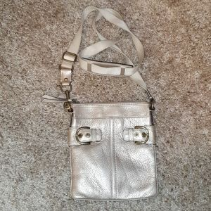 Coach Gold Leather Small Crossbody Bag